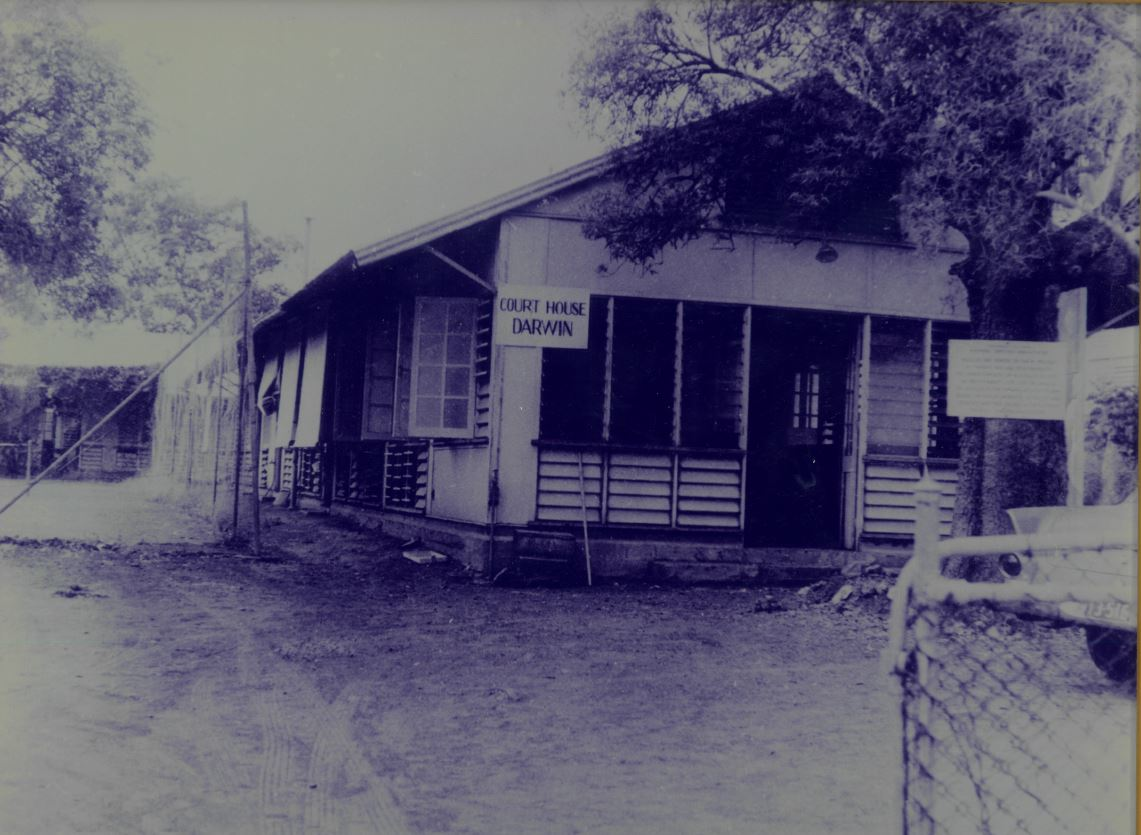 Historic Court House that was located on the Esplanade in Darwin